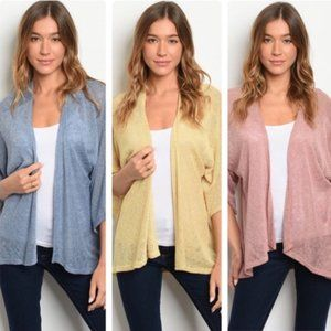 Lightweight cardigan - assorted colors/sizes